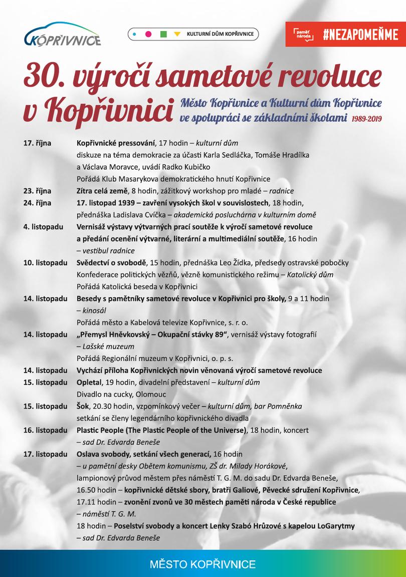 DIVADLO: 30. výročí sametové revoluce v Kopřivnici