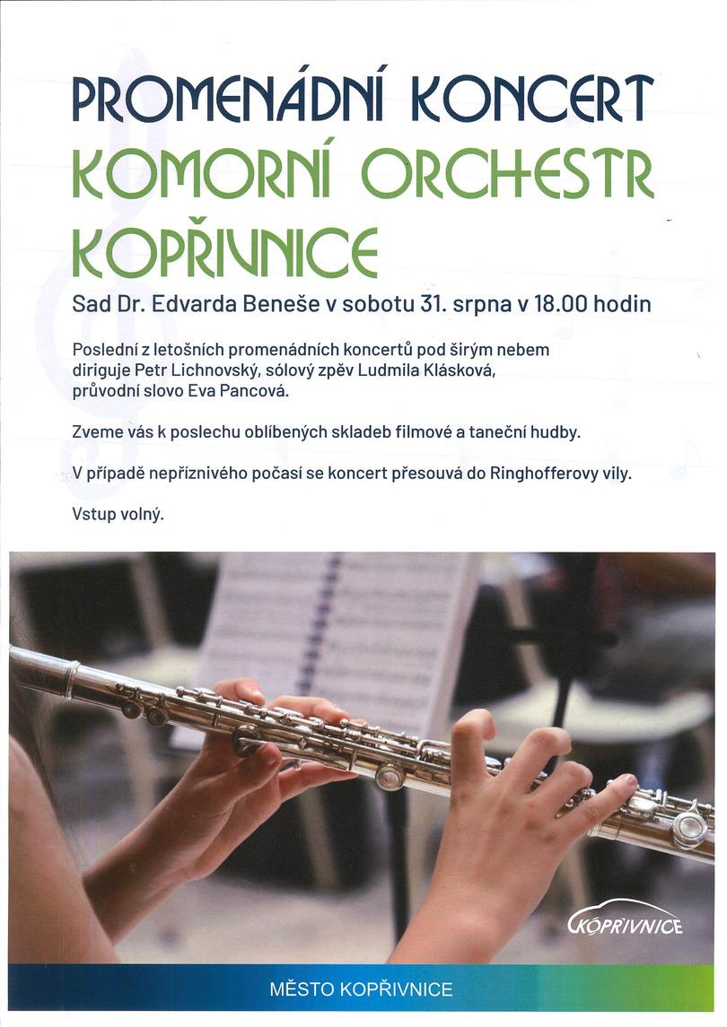 Promenádní koncert - Komorní orchestr Kopřivnice