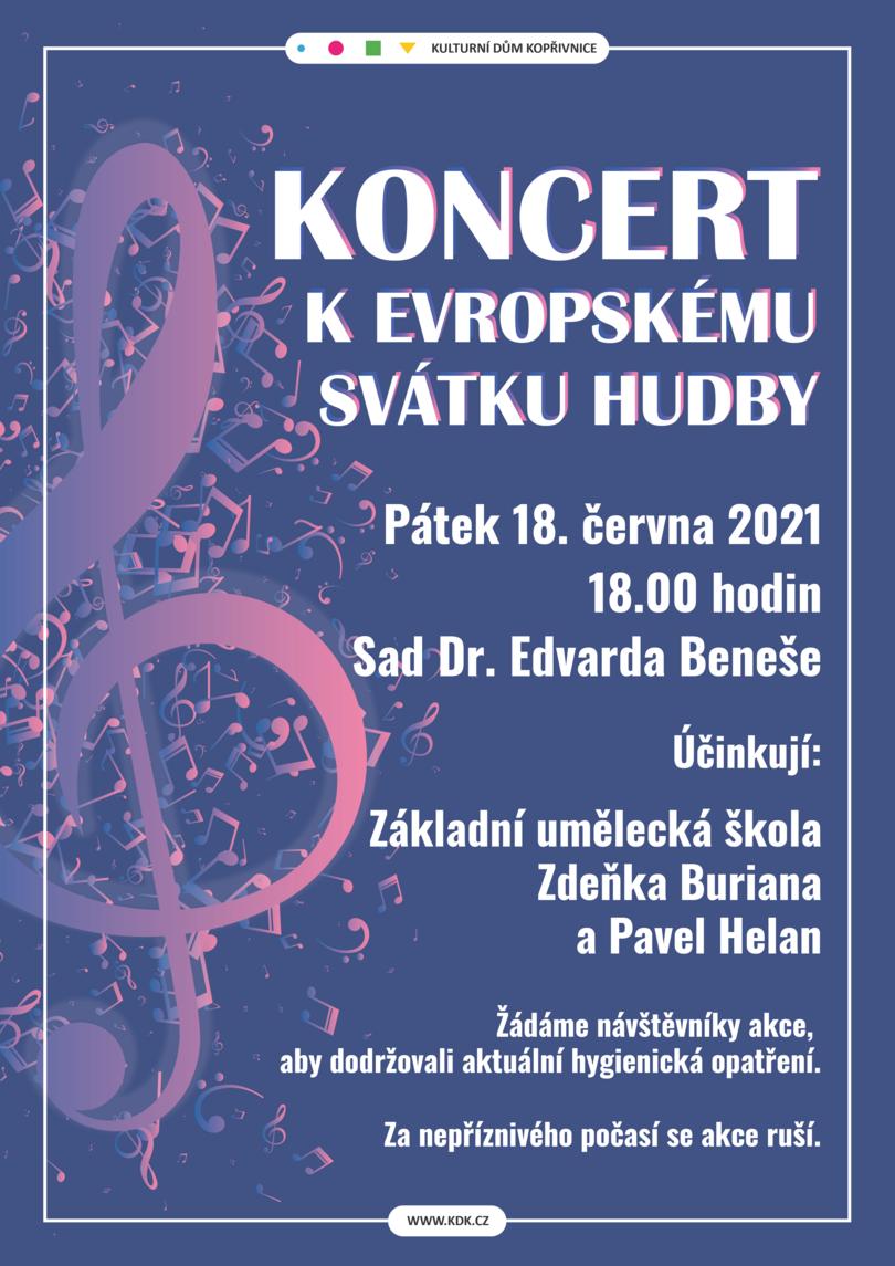 KONCERT: Koncert k Evropskému svátku hudby
