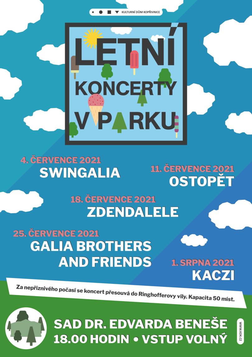 Letní koncerty v parku: GALIA BROTHERS AND FRIENDS