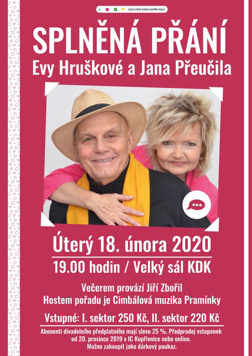 Splněná přání Evy Hruškové a Jana Přeučila